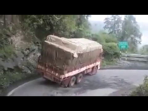 Live Lorry Accident At Shiradi Ghat