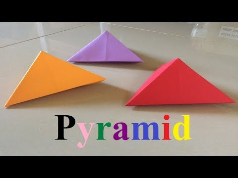 How to make a paper pyramid | Origami Easy and Beautiful Pyramid