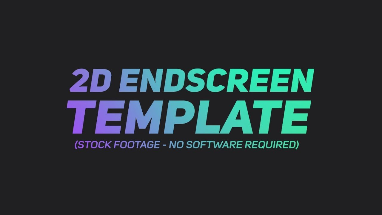 free 2d endscreen template after effects sony vegas blender