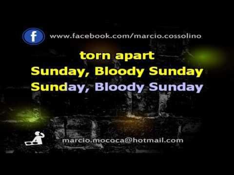 U2 - Sunday Bloody Sunday - Karaoke