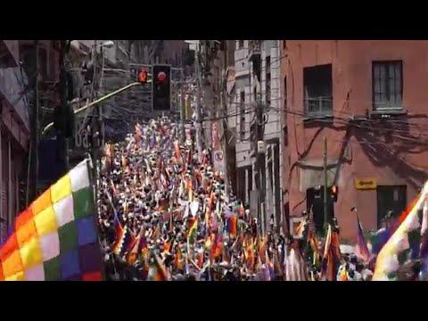 بوليفيا: الآلاف يحتجون على الحكومة المؤقتة في العاصمة
