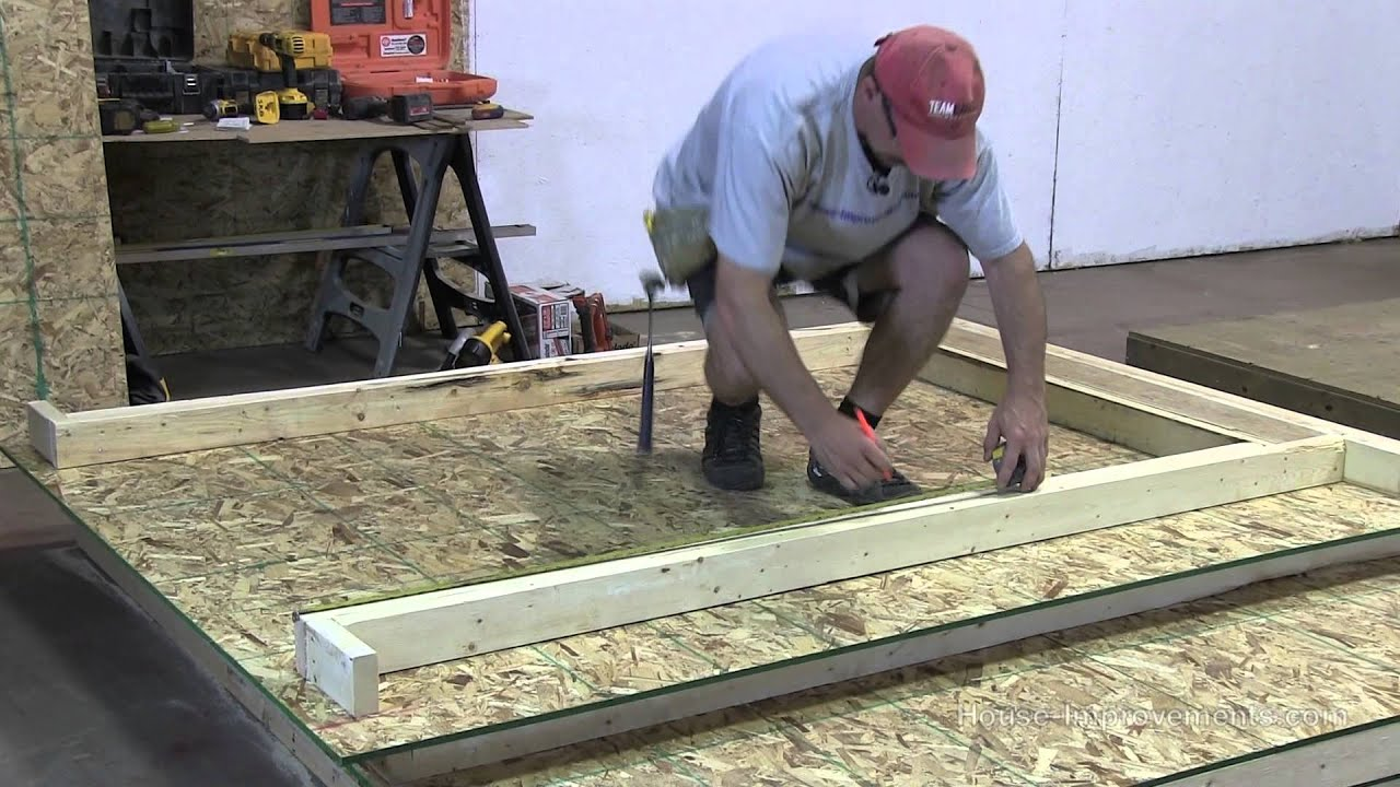 How Build Shed Part The Walls Youtube