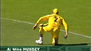 TWO UNBELIVEABLE CRICKET CATCHES - MIKE HUSSEY AND DENTON/SHANE WATSON