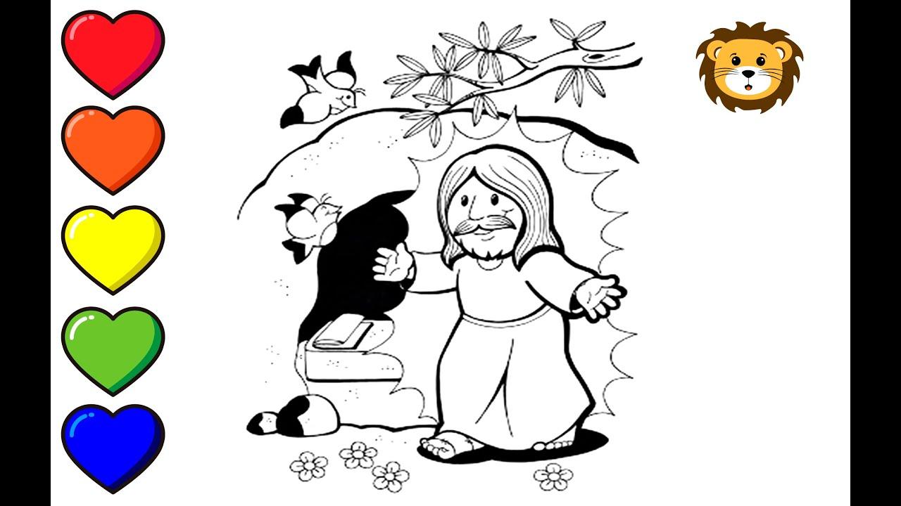 Como Dibujar A Jesus Resucitado Dibujos Para Ninos Draw And