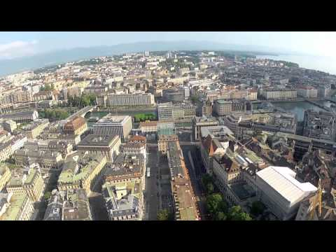 GAUI 330X-s - vues aériennes de Genève, Centre Ville