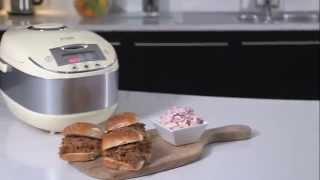 Russell Hobbs UK   Multi Cooker How To Beer Pulled Pork Sliders