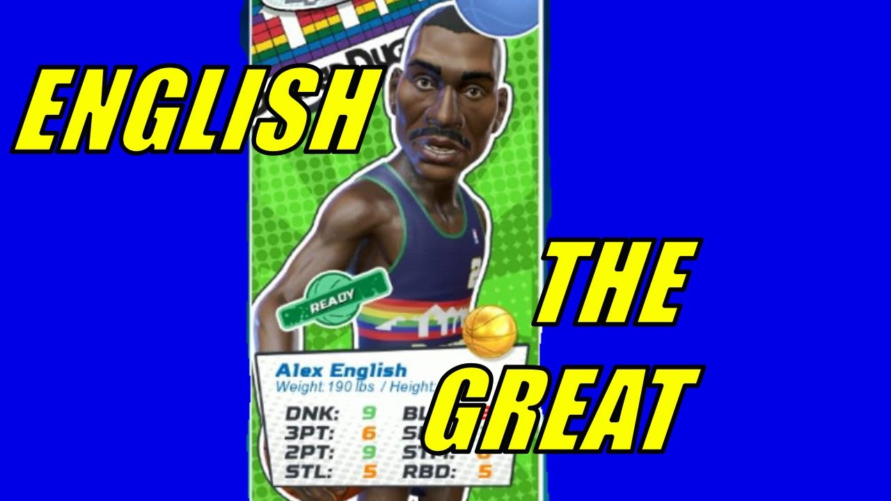NBA Playgrounds Alex English LAst game