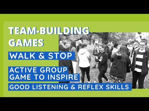 Active Game To Inspire Good Listening & Reflex Skills - Walk & Stop