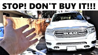5 Things I Hate About The New Ram 1500 Limited!
