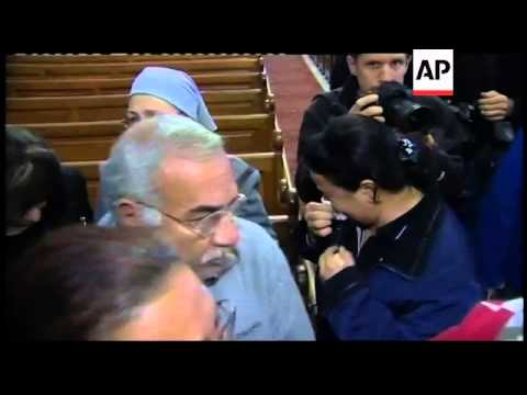 Church service following bomb attack on Coptic Christians