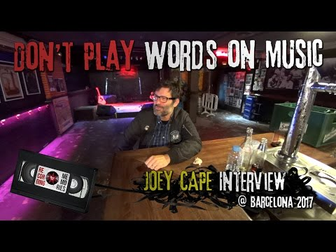 📼 Words On Music 1.01 with JOEY CAPE (Interview) @ Rocksound (05/02/2017) Barcelona