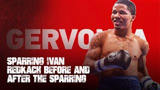 Gervonta Tank Davis sparring Ivan Redkach before and after the sparring