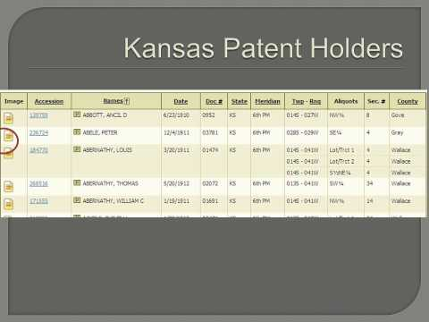 Searching the Bureau of Land Management Website for Patents.wmv
