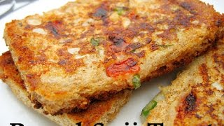 Crispy Veg Suji Bread Toast | Bread Suji Toast Recipe | Bread Rava Toast | Semolina Veg Toast
