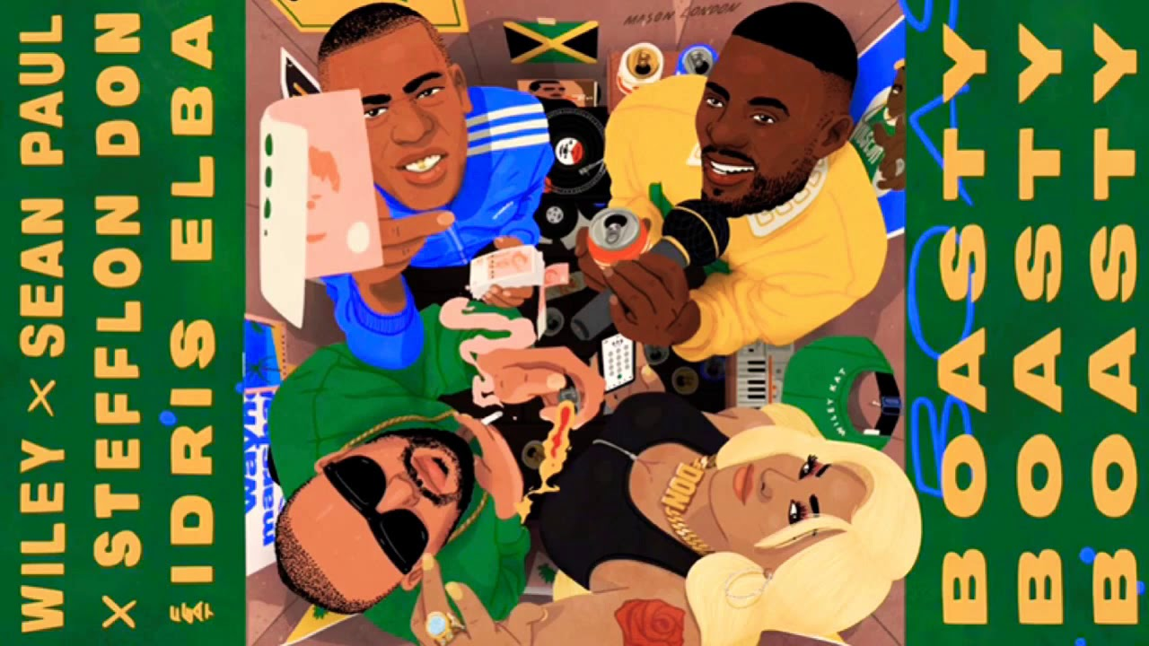 Wiley Ft  Stefflon Don ft  Sean Paul & Idris Elba - Boasty (Official Audio)  January 2019