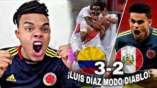COLOMBIA vs PERÚ (3-2) REACCIÓN de un HINCHA *PERÚ SUFRIÓ A LUIZ DIAZ*