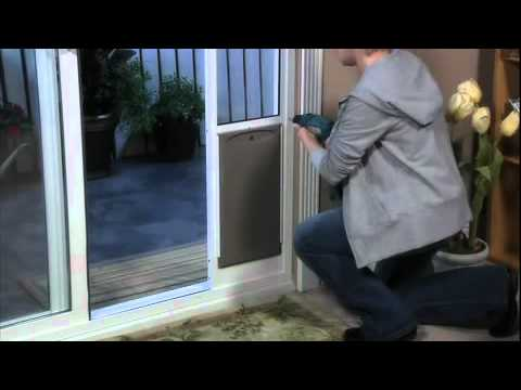 Petsafe Deluxe Patio Panel Pet Door Installation Youtube