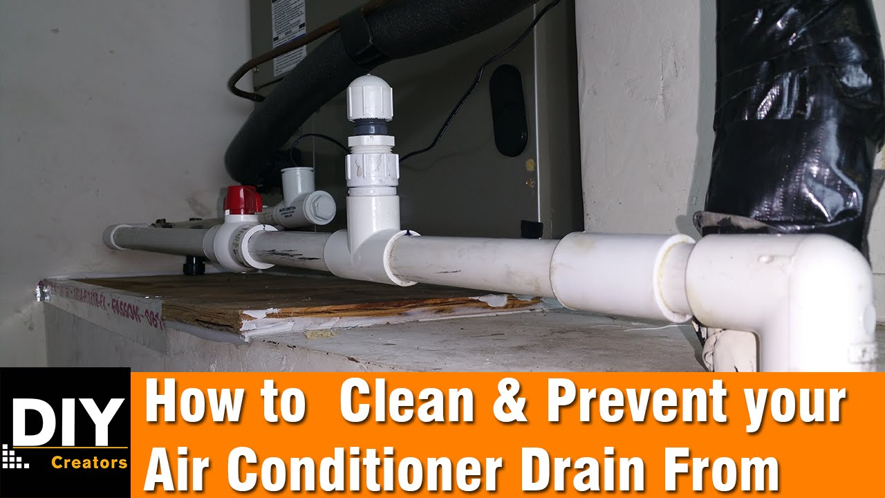 how to clean and prevent your air conditioner drain from clogging [ 1280 x 720 Pixel ]