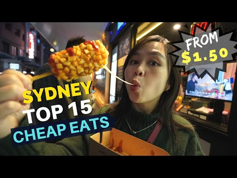 TOP 15 SYDNEY CHEAP EATS Under $10 -  Must Try Food In SYDNEY CBD