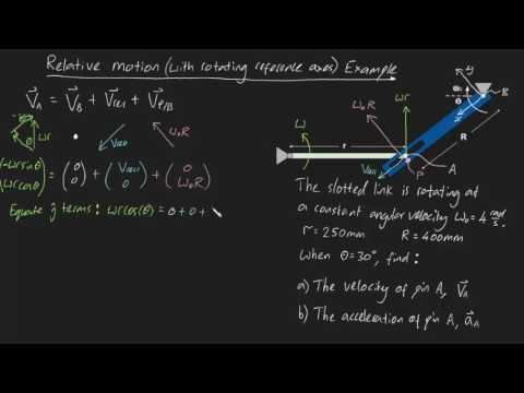 Relative Motion with rotating reference axes Example (part 1)