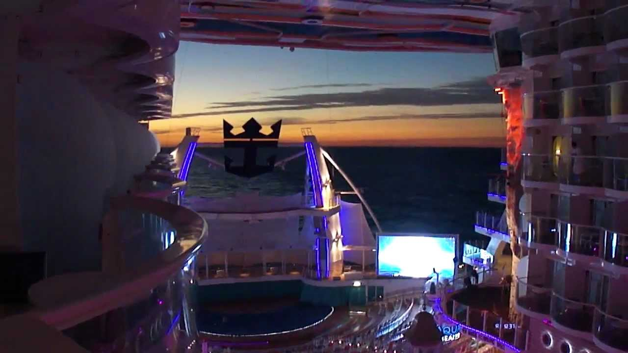 Allure of the Seas inside balcony - YouTube
