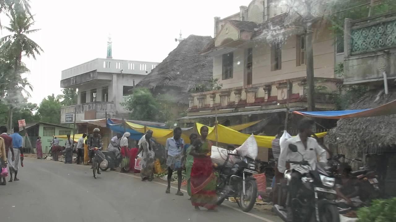 Utcai piac Dél-Indiában