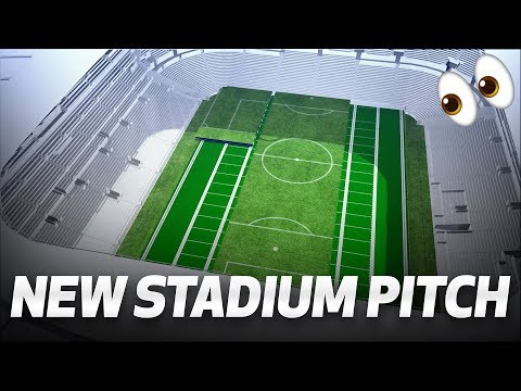 👀 A WORLD FIRST | DIVIDING RETRACTABLE FOOTBALL PITCH FOR TOTTENHAM HOTSPUR