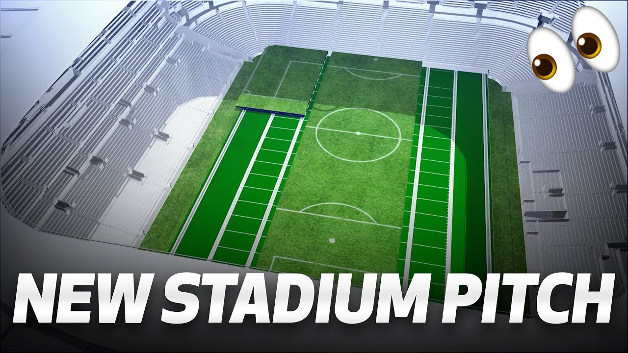 A World First Dividing Retractable Football Pitch For Tottenham Hotspur Youtube