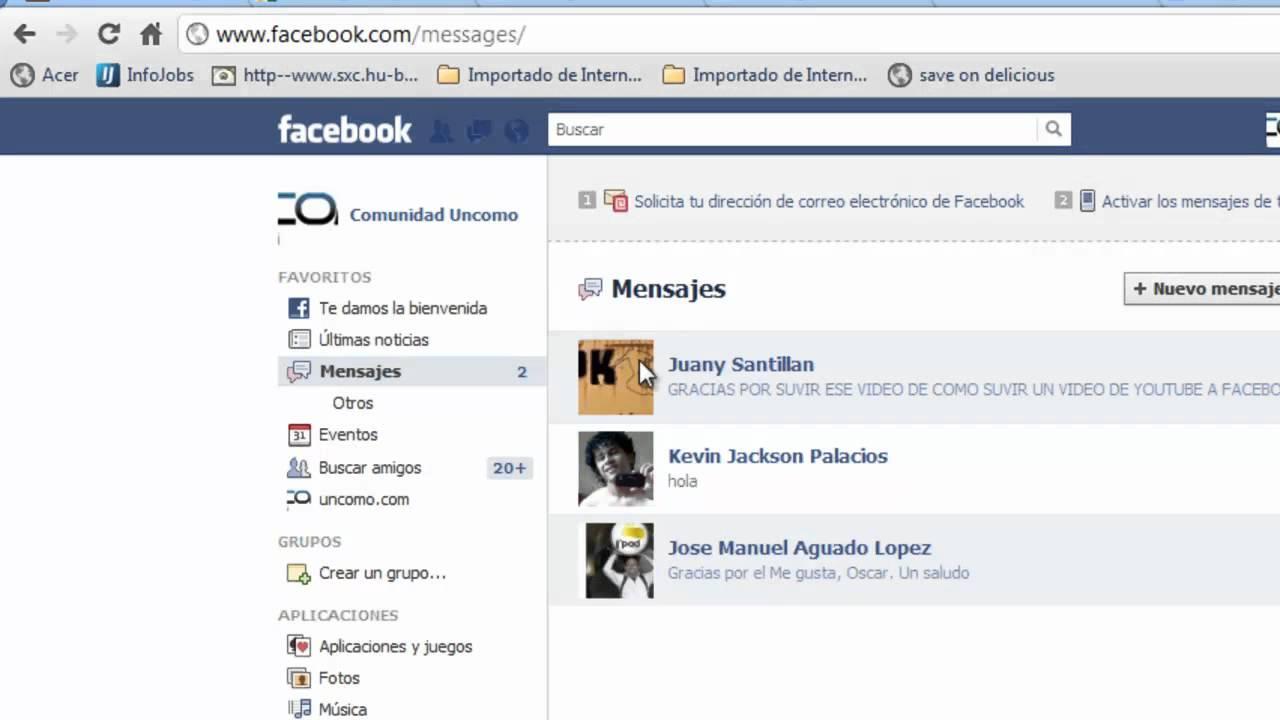 Como Revisar Todos Los Mensajes En Facebook Youtube