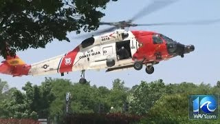 Second helicopter arrives with pilots involved in crash