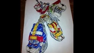 Coloring in Voltron Using Copic Makers part 1