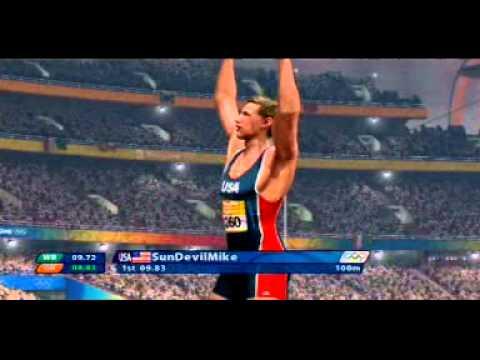 Beijing 2008   100m vs  online OR