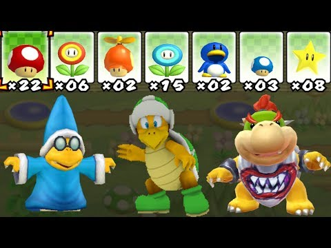 What happens when Kamek, Bowser Jr. and Hammer Bro uses Mario's Power-Ups?