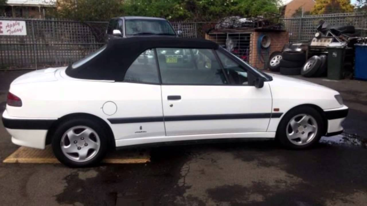 1995 peugeot 306 white 4 speed automatic cabriolet youtube. Black Bedroom Furniture Sets. Home Design Ideas