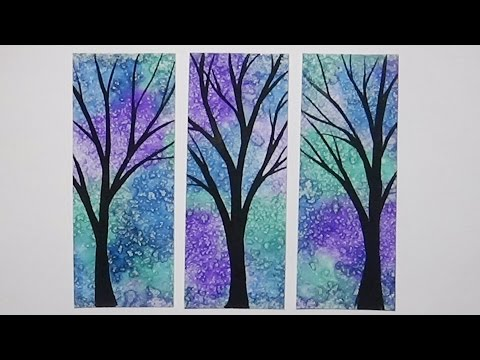 diy bookmarks amp watercolor techniques for beginners