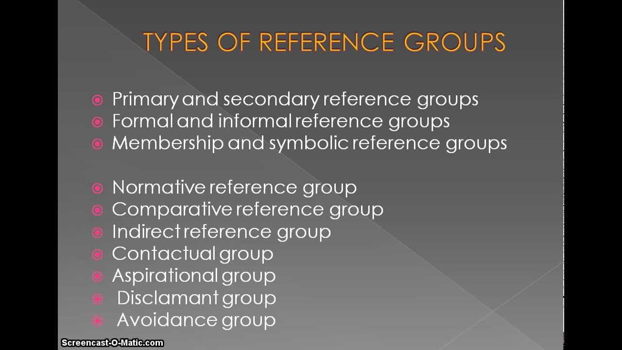 influence of reference groups essay Social influence lisa rashotte social influence is defined as change in an indi-vidual's thoughts, feelings included not just individuals and groups, but.