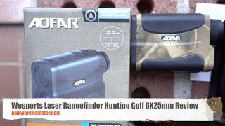 Wosports Laser Rangefinder Hunting Golf 6X25mm Review