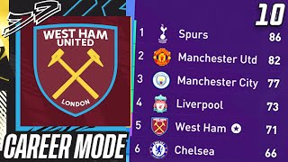 SEASON FINALE!!! UNBELIEVABLE DRAMA FOR TOP 4!!!😱 - FIFA 21 West Ham Career Mode EP10