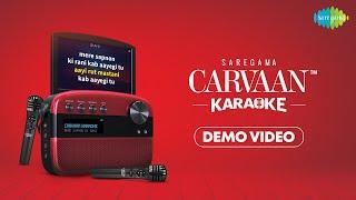 Saregama Carvaan Karaoke Demo Video  Preloaded - 1000 Karaoke tracks and 5000 Evergreen Songs