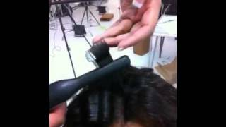 how to blend your natural hair with a curl weave