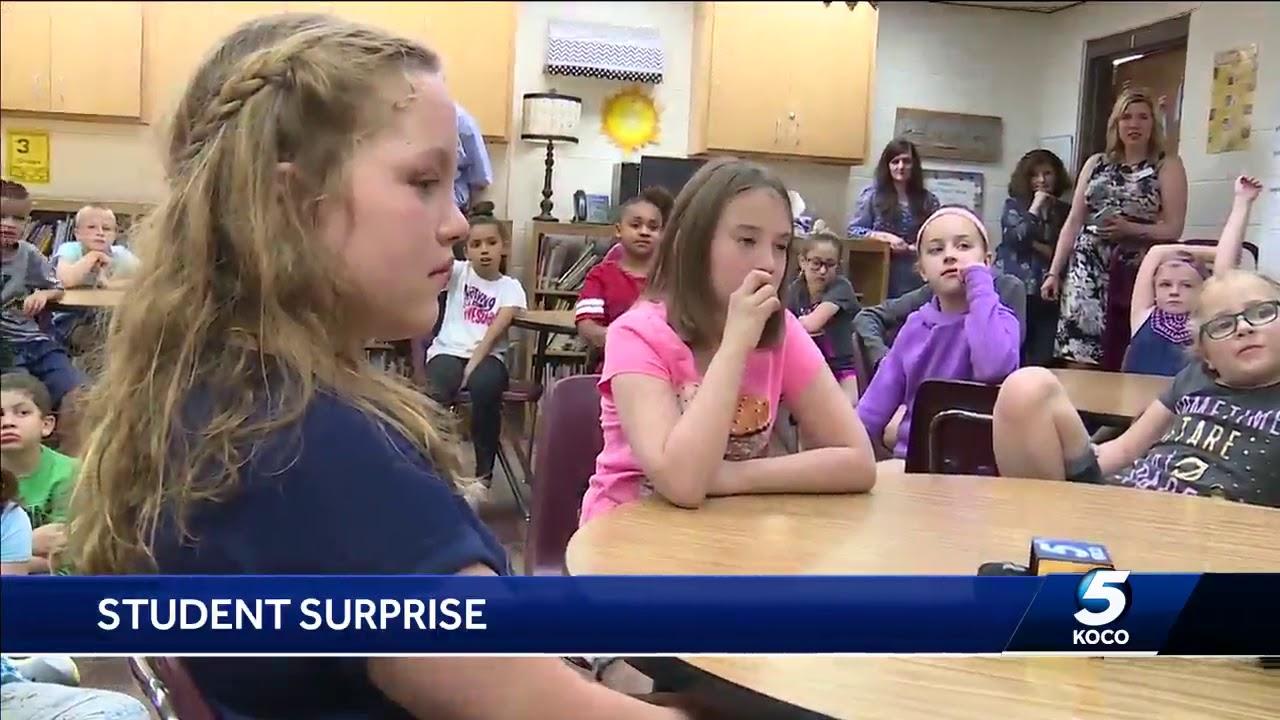 Watch: Markie Martin surprises big KOCO 5 fan at school