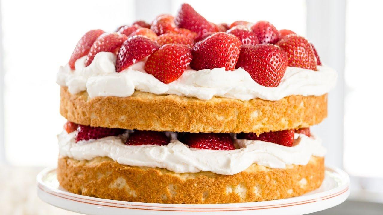 Strawberry Shortcake Cake - YouTube