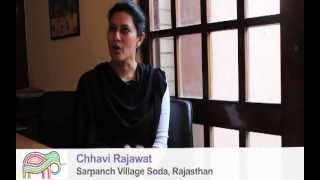 chhavi rajawat sarpanch village leader of village soda rajasthan