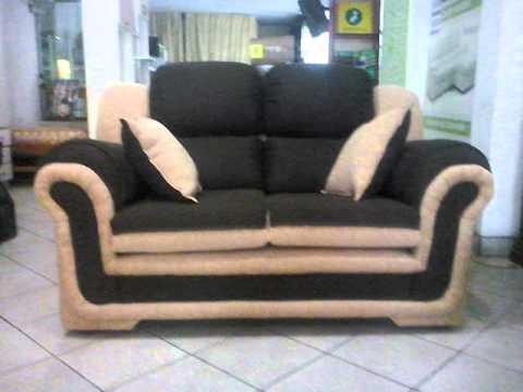 Juego de muebles modelo pamela 3 2 1 youtube for Modelos de muebles de sala
