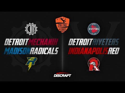 Detroit Mechanix vs Madison Radicals / Detroit Riveters vs Indy Red