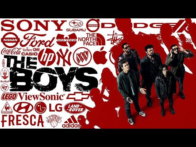 THE BOYS S2 product placement brands – top 10