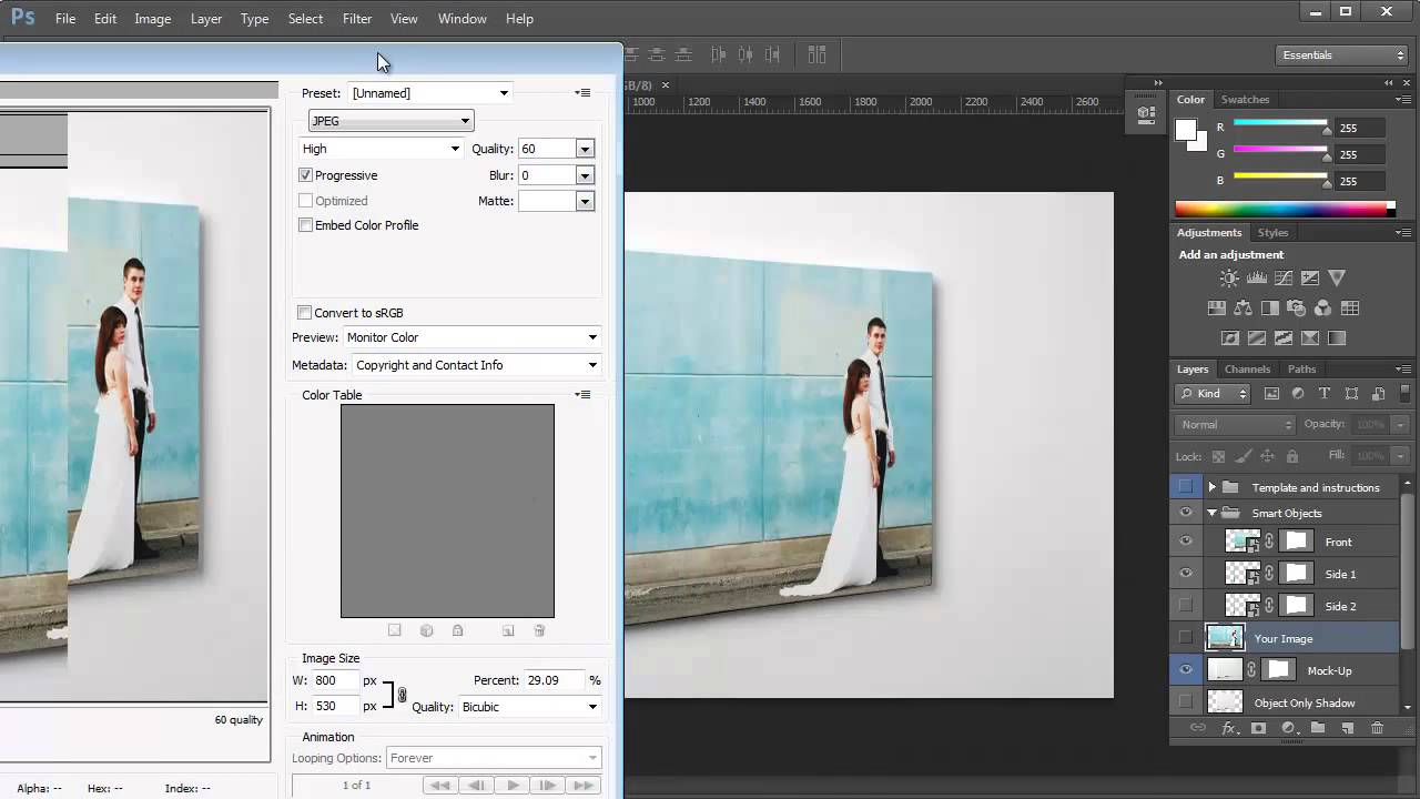 creating canvas mockups using your photos