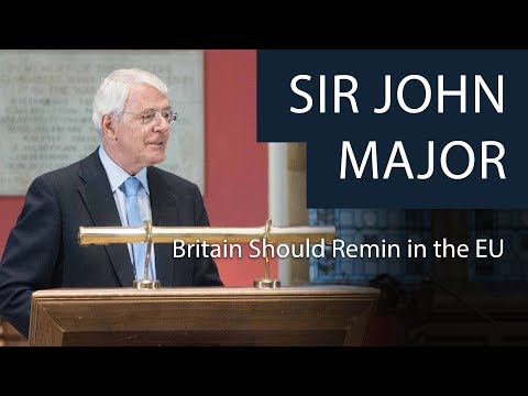 Sir John Major | Why Britain Should Remain in the EU | Oxford Union