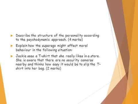 Approaches psychodynamic approach - YouTube