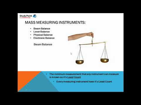 Lecture 5.3   Mass Measuring Instruments